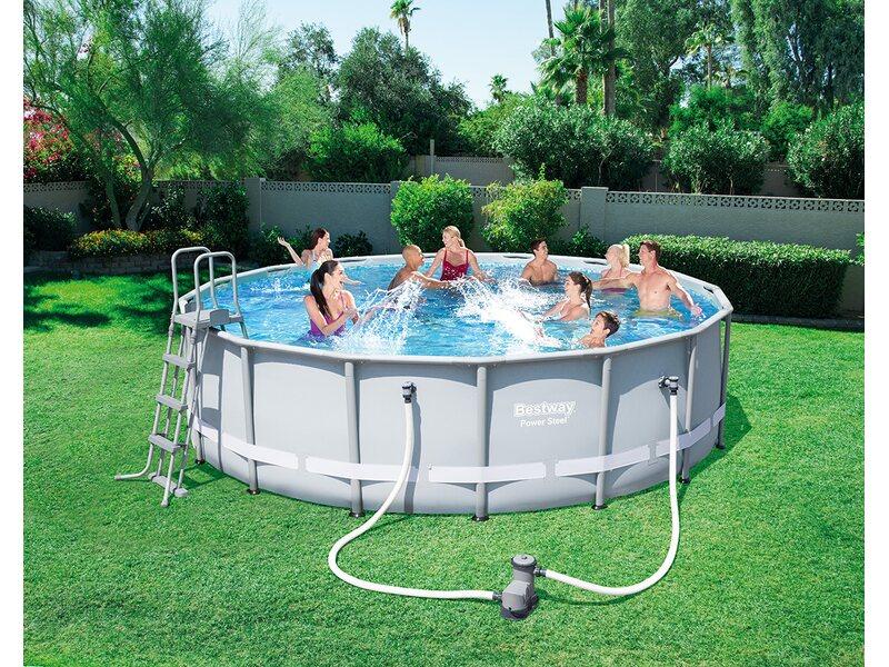 Bestway piscina power steel frame 488 cm x 122 cm acquista for Bestway obi