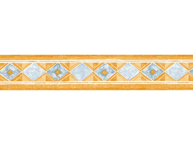 Bordo adesivo vinilico 3d rombi giallo acquista da obi for Cornice adesiva per pareti
