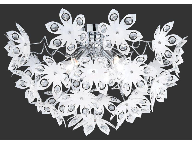 Plafoniera Fiori Bianca : Plafoniera blowball floreale trasparente acquista da obi