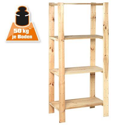 Obi scaffale in legno per carico pesante 174 cm x 80 cm x for Obi scaffali
